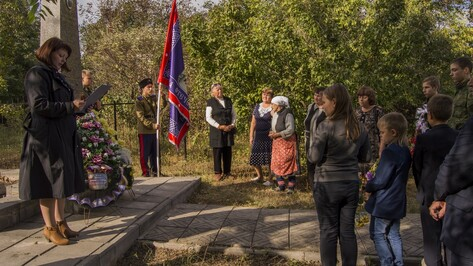 В Семилуках почтили память укрывшей от фашистов летчика Прасковьи Щеголевой