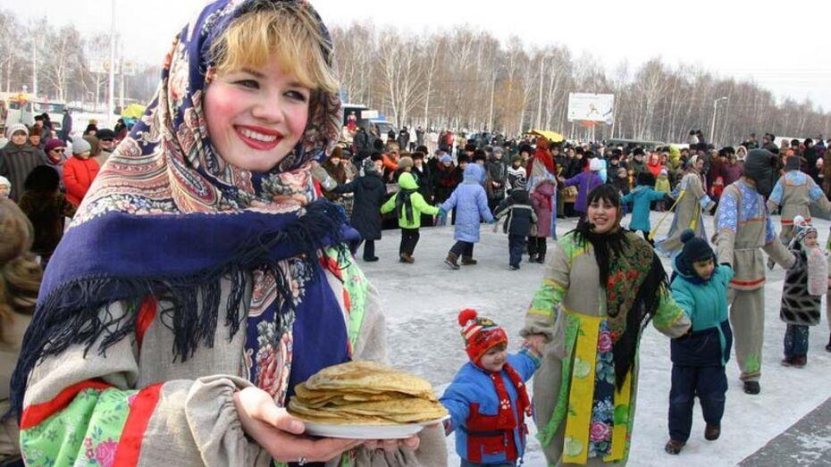 На Масленицу в Воронеже запланировано более 150 мероприятий