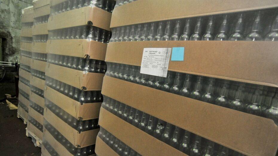 В Воронежской области силовики изъяли 370 т поддельного алкоголя за год
