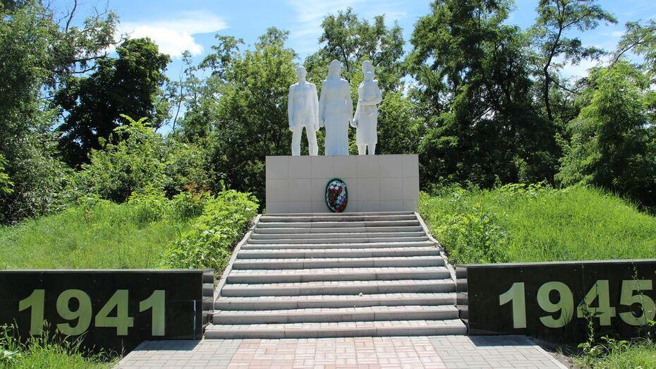 В новохоперском поселке отреставрировали уникальный памятник ВОВ