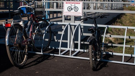В Углянце открылась велопарковка