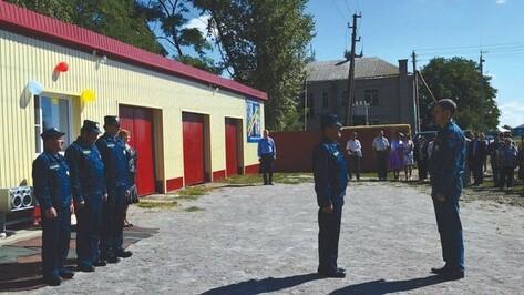 В Воробьевском районе открыли новое пожарное депо