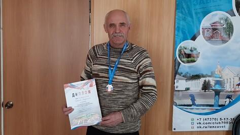 Нижнедевицкий ветеран-легкоатлет стал бронзовым призером чемпионата России