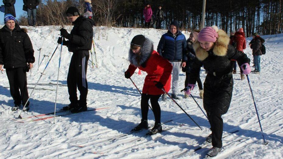 Хохольские школьники приурочили к Дню защитника Отечества лыжные соревнования