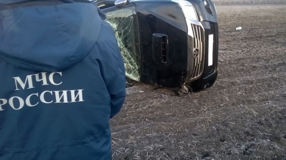 В Воронежской области Toyota улетела в кювет: погибла женщина