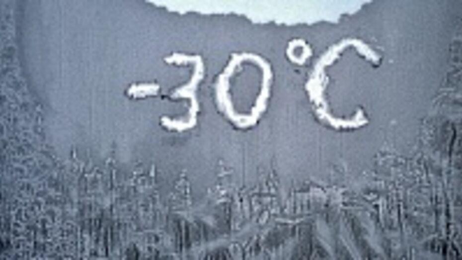 В школах Репьевского района из-за сильных морозов отменены занятия