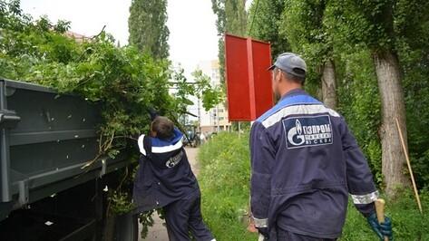 В парке Второй воздушной армии Семилук прошел большой субботник