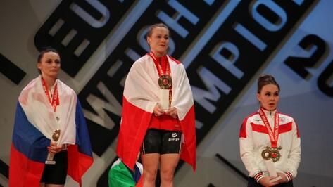 Воронежская тяжелоатлетка завоевала серебряную медаль на чемпионате Европы