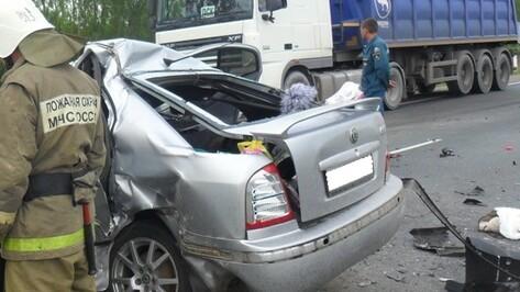 В Воронежской области разбилась пара на Skoda