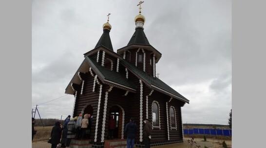 В петропавловском селе Березняги появился новый деревянный храм