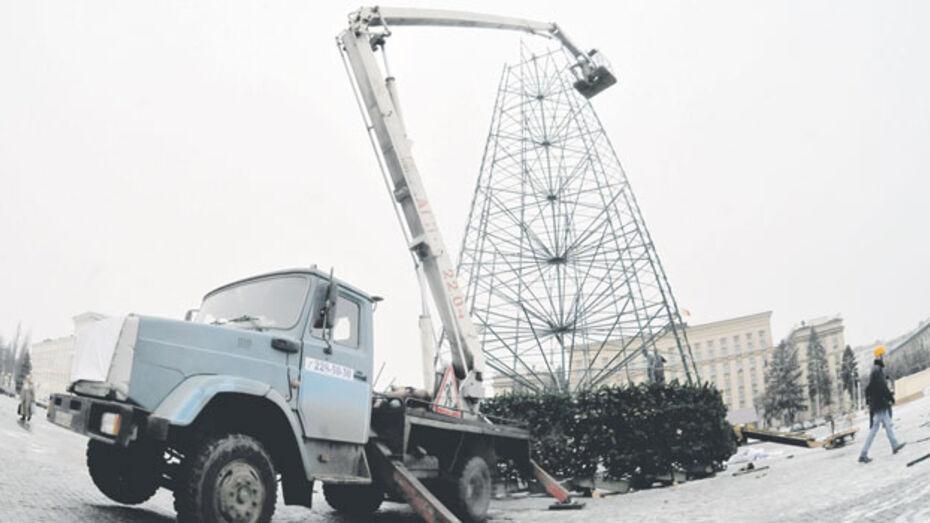 Воронеж встретит 2013-й со старой новой елкой