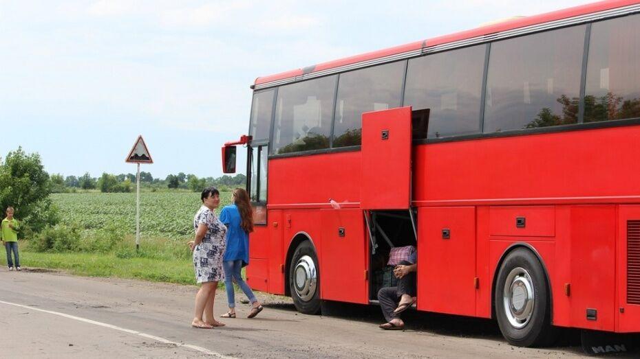 В Воронежской области полицейские помогли водителю сломавшегося автобуса