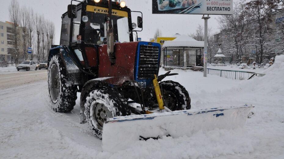 В Лисках за 4 дня дорожники вывезли с улиц города 657 тонн  снега
