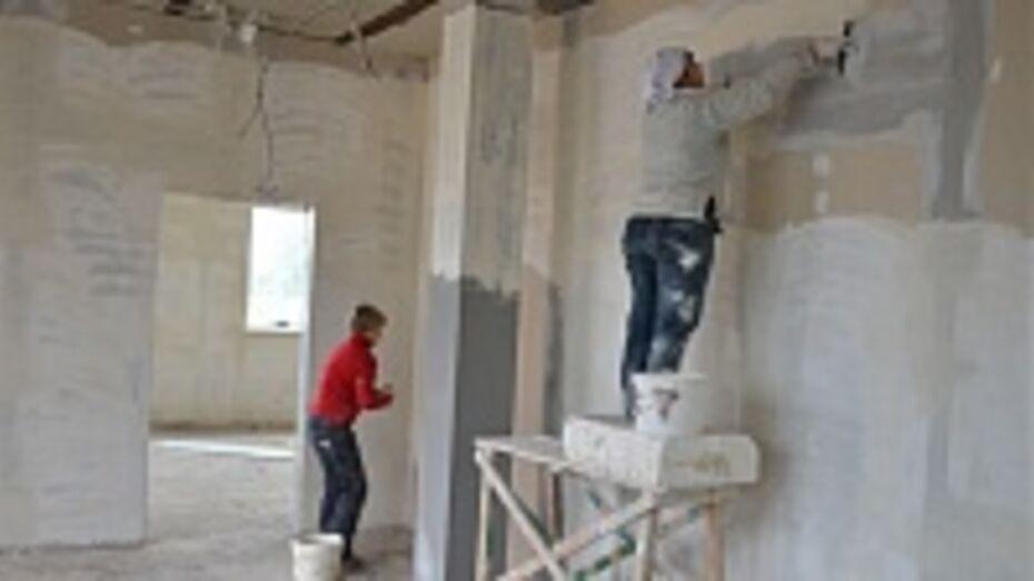 В селе Девице Семилукского района возобновилась строительство детского садика