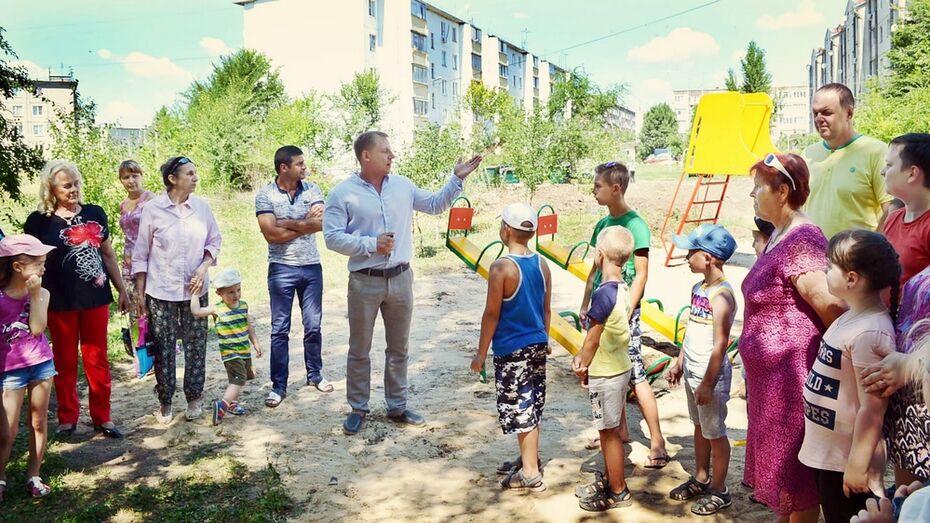 Семилукские общественники оборудовали спортплощадку для молодежи и пенсионеров