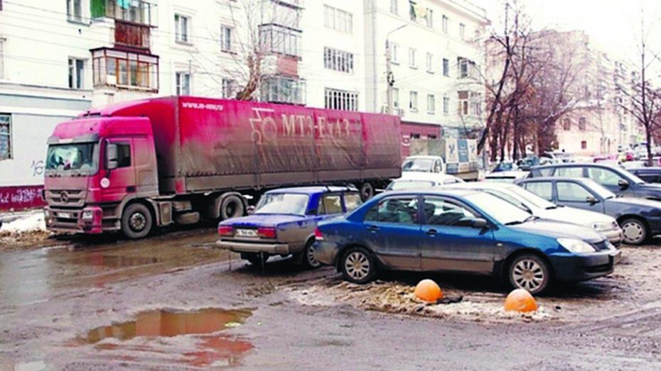 В Борисоглебске отвели специальные места для парковки большегрузного транспорта