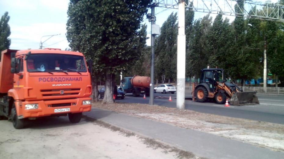 В Воронеже за 8 часов устранили коммунальную аварию