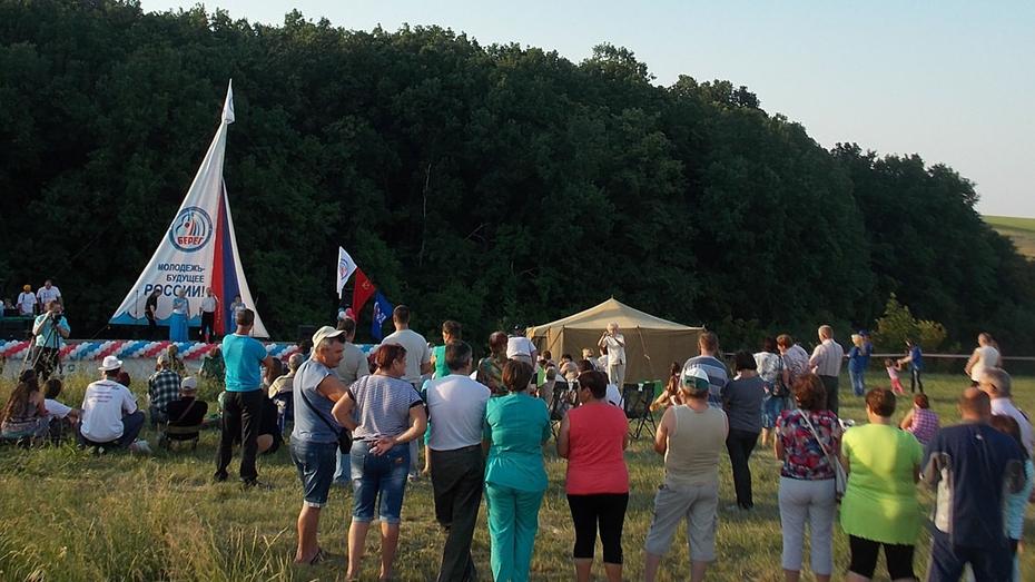 В аннинском районе впервые прошел фестиваль бардовской песни «Берег»