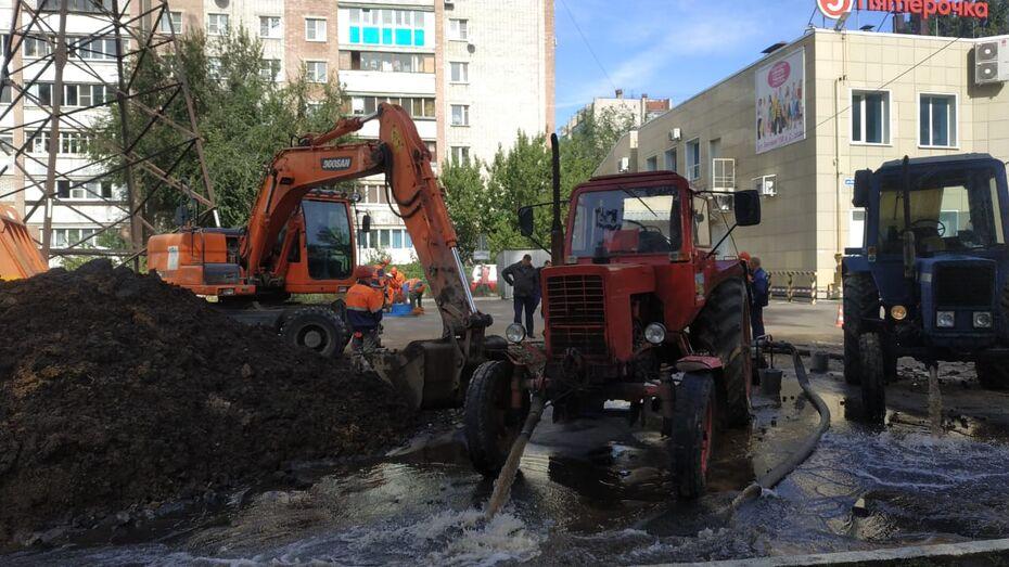 Ночная авария оставила без воды 36 домов в Коминтерновском районе Воронежа
