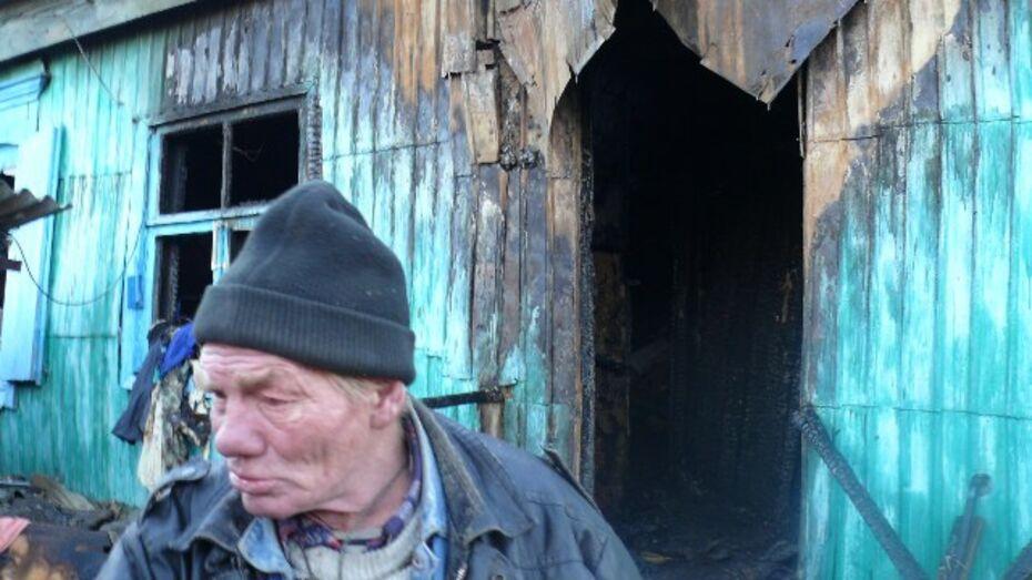 В Верхнем Мамоне мальчик сжег дом бабушки и дедушки