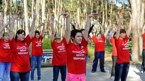 Воронежские врачи провели в «Алых парусах» флешмоб-зарядку