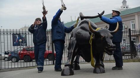На воронежской улице Карла Маркса демонтировали скульптуру быка