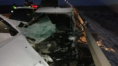 В Воронежской области водитель «Гранты» погиб в аварии с микроавтобусом