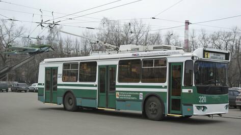 На день приостановят работу троллейбусного маршрута в Воронеже