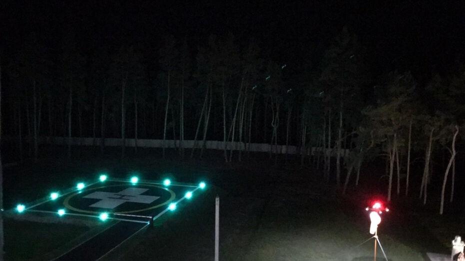 Две районные больницы в Воронежской области получили вертолетные площадки