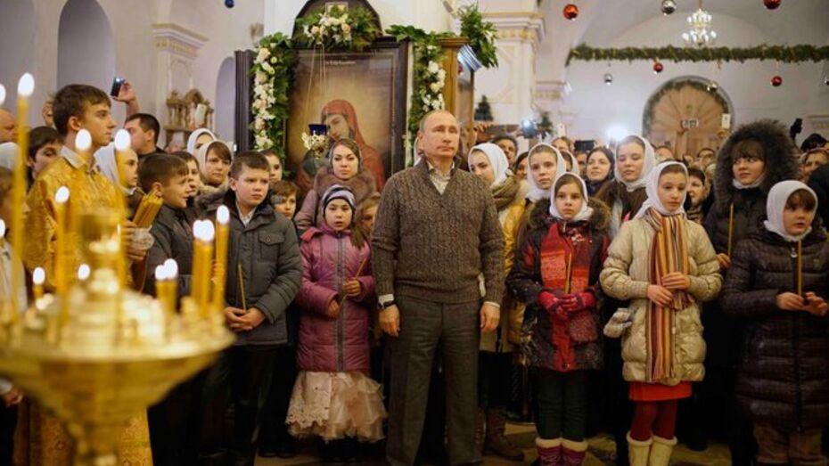 Владимир Путин встретил Рождество в Воронежской области