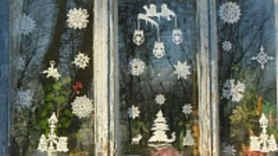 Жители новохоперского села освоили новый вид украшения окон к Новому году