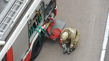 В Воронеже загорелась газовая труба на улице Студенческой