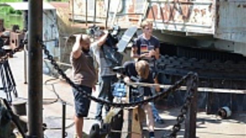 В Семилукском речном порту снимают сцены из сериала «Дельта-2»