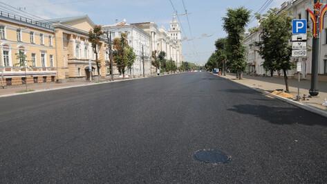На проспекте Революции в Воронеже уложили последний асфальт