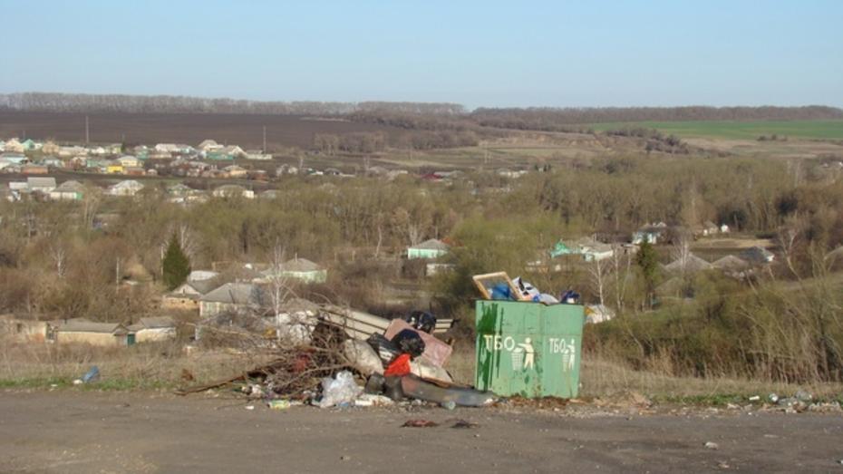 В хохольском селе установили 55 контейнеров для сбора мусора