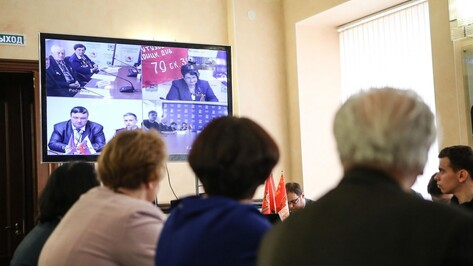 В Воронеже прошел телемост «Историческая память – встреча поколений»