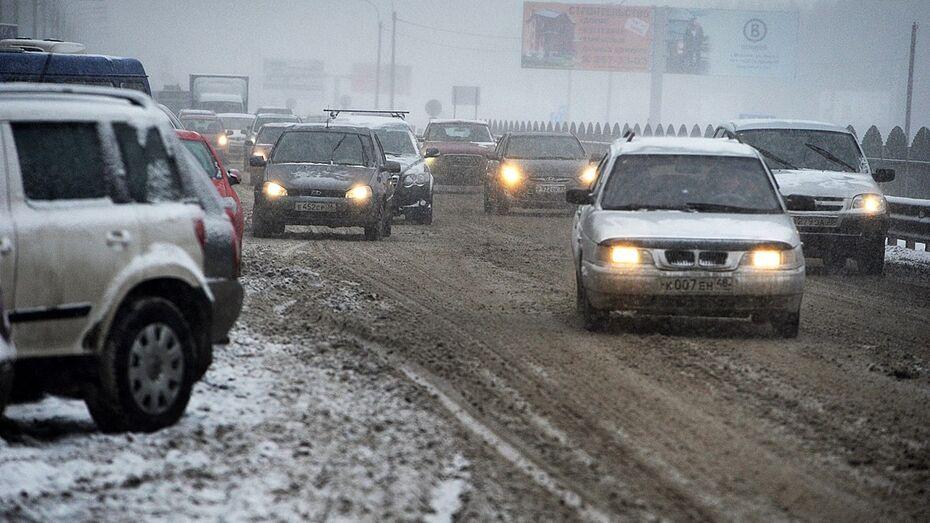 Дорожники предупредили воронежцев о снеге с дождем и метели