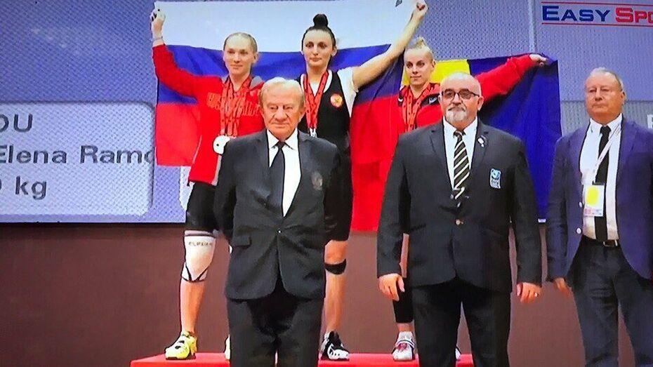 Воронежская спортсменка взяла «золото» первенства Европы по тяжелой атлетике