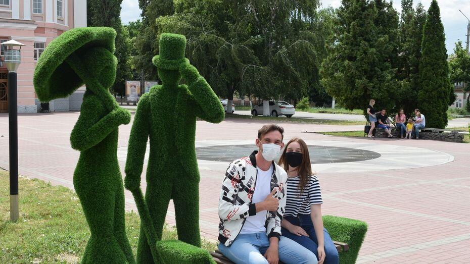В Борисоглебске установили 3 новые топиарные фигуры