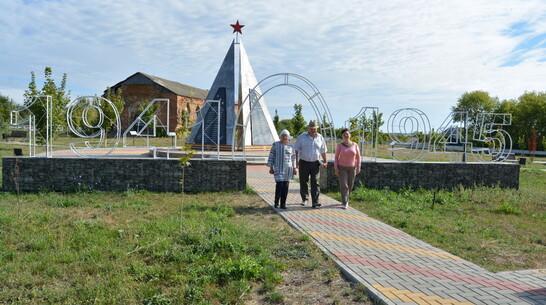 В богучарском селе Данцевка в честь умерших в мирное время фронтовиков установили стелу