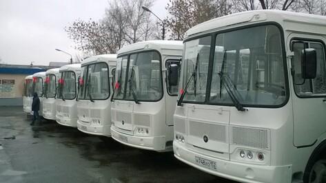 Первые 58 новых автобусов начали обслуживать маршруты в Воронежской области