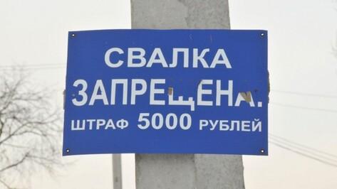 В Воронежской области сельхозпредприятие заплатит штраф за свалку на поле