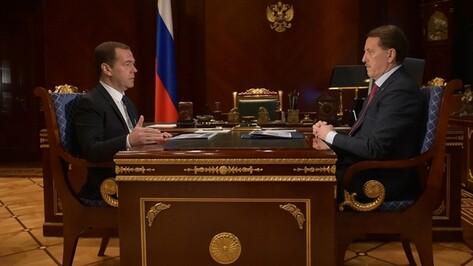 Дмитрий Медведев поручил привлечь малый бизнес в воронежские промышленные кластеры