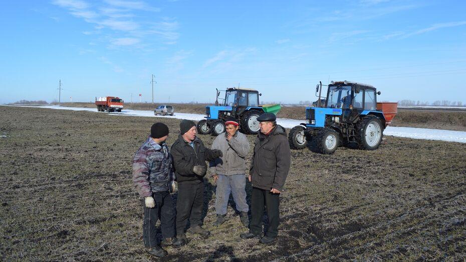 В Эртильском районе начались весенние полевые работы