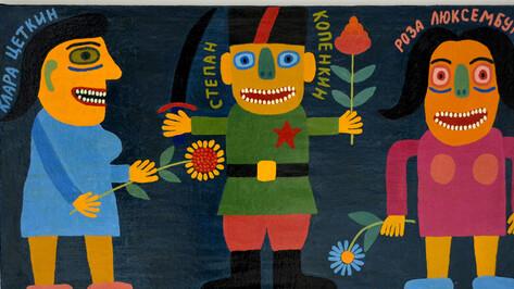 Липецкий художник покажет в Воронеже вдохновленные Платоновым работы на полотенцах и коврах