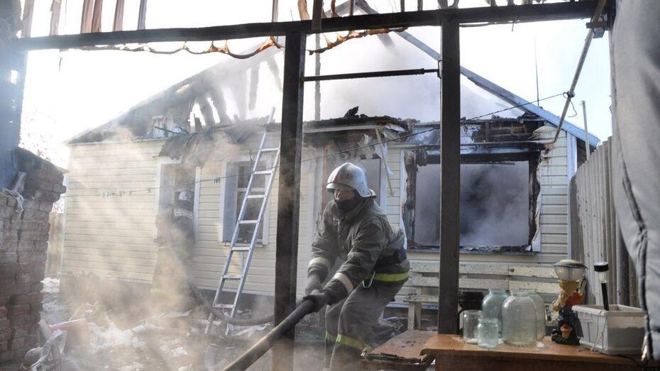 В Панинском районе из-за пожара лишилась жилья семья с двумя детьми