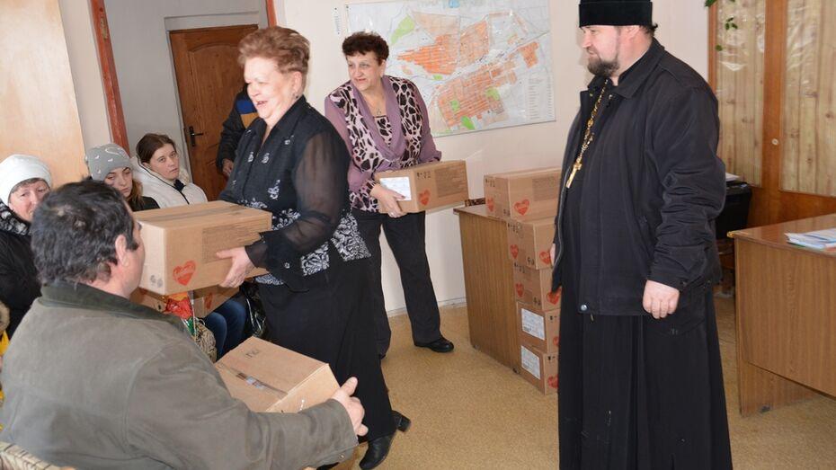 Воронежская и Лискинская епархия угостила поворинцев печеньем