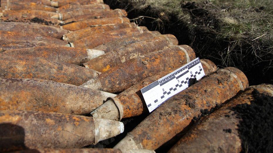 Около поселка под Острогожском местные жители нашли 32 снаряда времен ВОВ