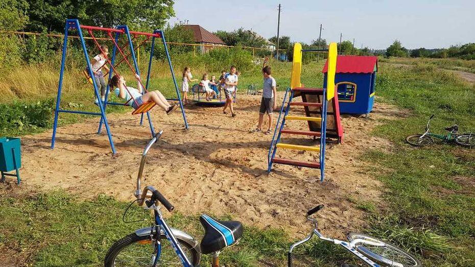 В Бобровском районе жители хутора Соколовский построили детскую площадку