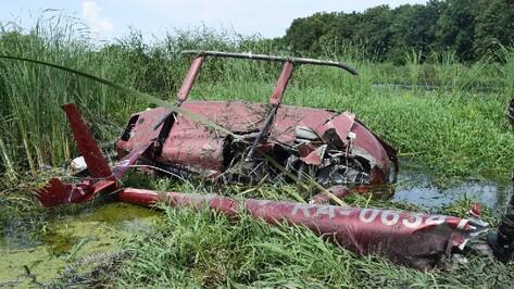 Пострадавших при падении вертолета под Воронежем спас местный житель